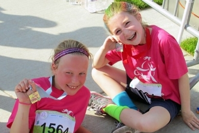 INSPIRING GIRLS TO RUN THEIR<BR />&nbsp; WAY TO HAPPY, HEALTHY LIVES